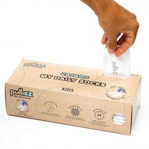 Kids Pulliez white socks box – 28 Pairs