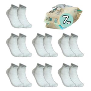 7 Paar, ERWACHSENE ToGo Pack (36-46) Pulliez Grau, Low-Cut Sockenpaket