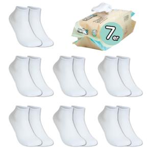 7 Paar, ERWACHSENE ToGo Pack (36-46) Pulliez White, Low-Cut Sockenpaket