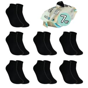 7 Paar, ERWACHSENE ToGo Pack (36-46) Pulliez Schwarz, Low-Cut Sockenpaket