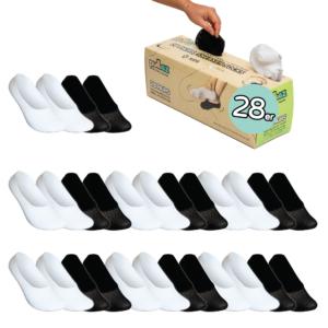 28 Paar Sneakersocken Box, Größe S (24-35)