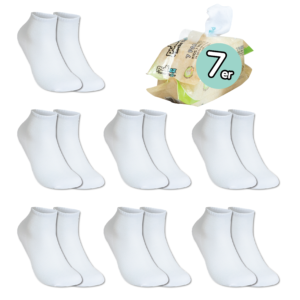 7 Paar, KINDER ToGo Pack (24-35) Pulliez Weiss, Low-Cut Sockenpaket
