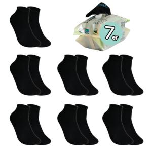 7 Paar, KINDER ToGo Pack (24-35) Pulliez Schwarz, Low-Cut Sockenpaket