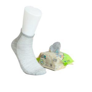 7 Paar, KINDER ToGo Pack (24-35) Pulliez Grau, Low-Cut Sockenpaket